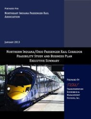 executive summary, pdf - Northeast Indiana Passenger Rail ...