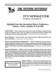 newsletter #18 - The Vetiver Network International