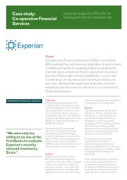 Download full Co-operative Financial Services case ... - Experian