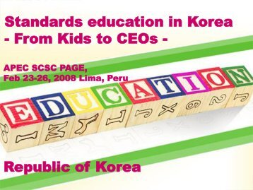 Contents - APEC Standards Education Initiative