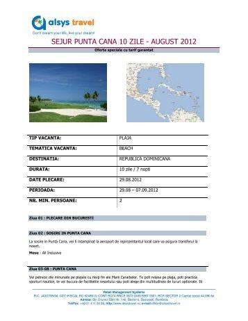Click aici pentru program sejur august - Alsys Travel