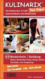 Das Restaurant- & Café- Gutscheinbuch vom Niederrhein - Kulinarix