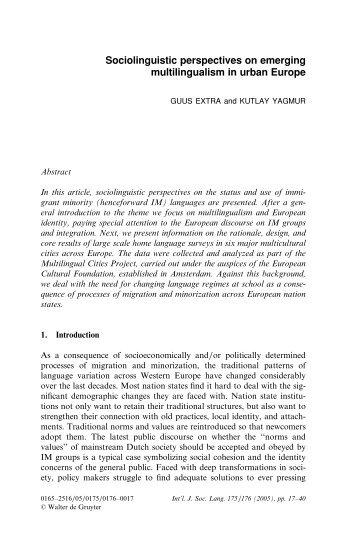 R9 EXTRA YAGMUR Emerging multilingualism in urban Europe.pdf
