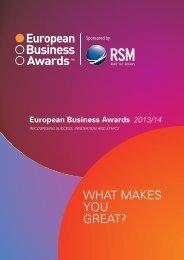RSM FGS European Business Awards - Retail Excellence Ireland