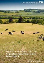 Corporate & Social Responsibility Report 2009/10 - Royal United ...