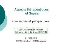 Nouvelles molécules utilisées dans le traitement du sepsis sévère.