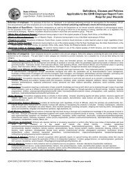 Definitions, Clauses and Policies Applicable to the ... - State of Illinois