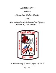 IAFF (Fire) Contract 2011-2014 - City of East Moline