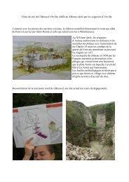 Visite du site du Château d' Orville, édifié au XIIème siècle par les ...