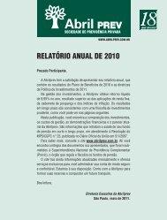2011 - Maio - Relatório Anual de 2010 - AbrilPREV