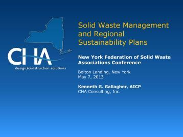 Solid Waste Management and Regional Sustainability Plans