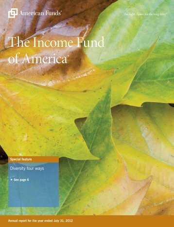 Annual Report The Income Fund of America - American Funds