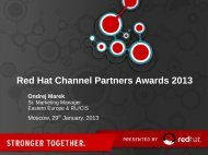 Red Hat Channel Partners Awards 2013