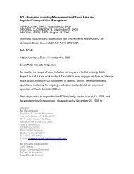 EOI - Extension Inventory Management and Shore Base ... - Encana