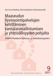 Maaseudun hyvinvointipalvelujen kehittäminen ... - Maaseutupolitiikka