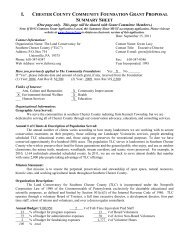 chester county community foundation grant proposal summary sheet