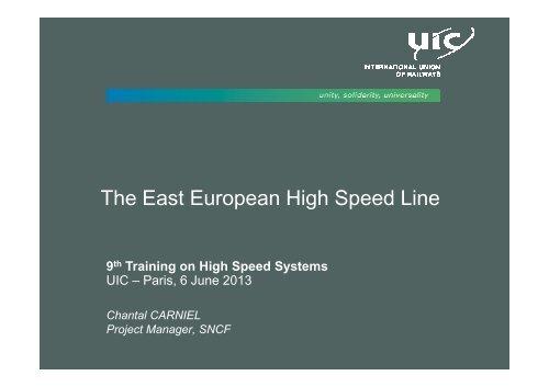 02 2013 9THSS june06 Chantal Carniel TGV est europe - UIC