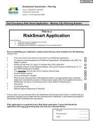 Risk Smart Application - Mackay Regional Council