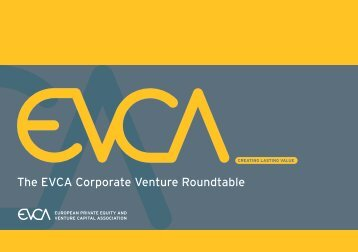 The EVCA Corporate Venture Roundtable