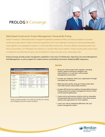 PROLOG Converge Product Brochure - Applied Software