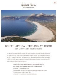 SOUTH AFRICA - FEELING AT HOME - Michael Poliza Experiences