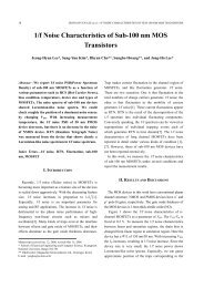1/f Noise Characteristics of Sub-100 nm MOS Transistors - JSTS