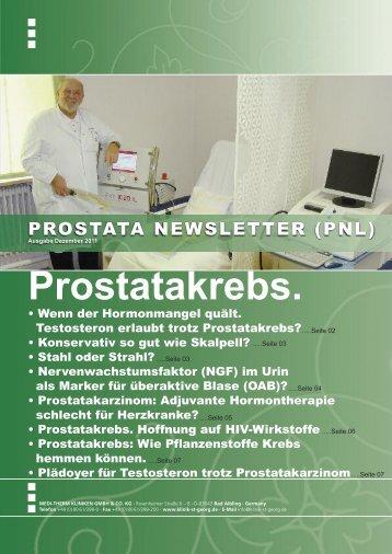 Prostatakrebs. - Klinik St. Georg