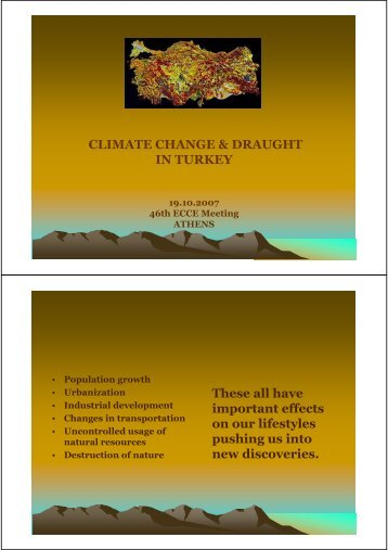 CLIMATE CHANGE & DRAUGHT IN TURKEY These all have ...