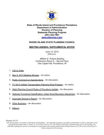 Posted: 6/5/13 State of Rhode Island and Providence Plantations ...