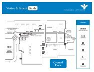 Visitor & Patient Guide - Bon Secours Richmond Health System