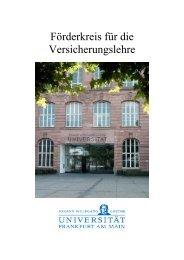 Förderkreis für die Versicherungslehre - Wiwi  Uni-Frankfurt - Goethe ...