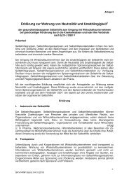 Erklärung zur Wahrung von Neutralität und Unabhängigkeit - BKK ...