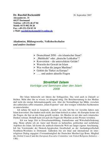 Streitfall Islam - Deutsche Muslim Liga Bonn
