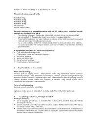 Informácie o lieku Serdolect - Lundbeck