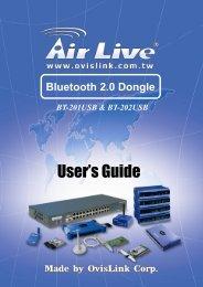 AirLive BT-201USB & BT-202USB Manual - kamery airlive airlivecam