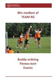 Bliv medlem af TEAM RG Buddy-ordning Fitness-kort Events