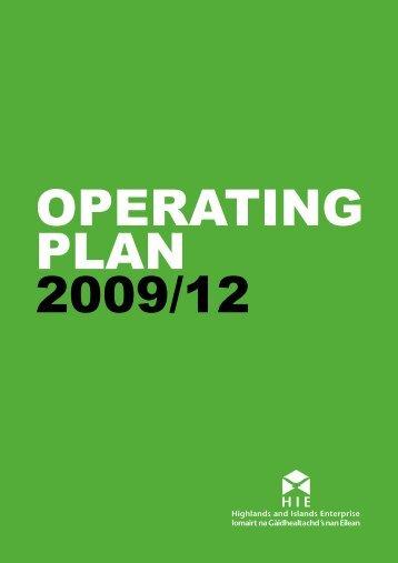 Highlands & Islands Enterprise operating plan - Moray Performs