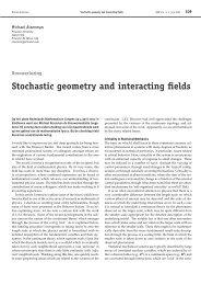 Stochastic geometry and interacting fields - Nieuw Archief voor ...
