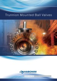 Trunnion Mounted Ball Valves - Habonim