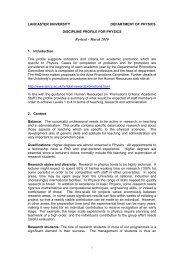 Academic Promotion - Physics at Lancaster University