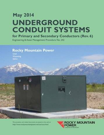 RMP Underground Conduit System Installation Guide (Procedure 242)