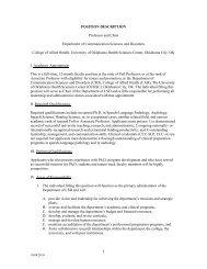 POSITION DESCRIPTION Professor and Chair Department of ...