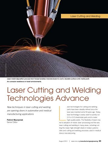 Laser Cutting and Welding Technologies Advance - Society of ...