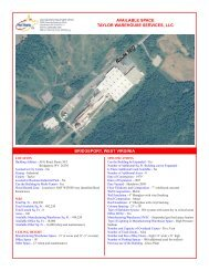 View Property Brochure - West Virginia Department of Commerce