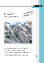 ROTAMAT® Fine Screen Ro 1 - Huber Technology