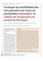 Avaliação da solubilidade dos sais presentes nas ... - Revista O Papel