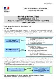 NOTICE D'INFORMATION - L'Europe s'engage en région Centre