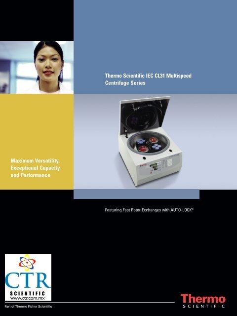 Thermo Scientific IEC CL31 Multispeed Centrifuge ... - CTR Scientific