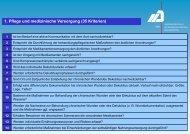 1. Pflege und medizinische Versorgung (35 Kriterien)