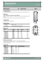 Produktbladför Ackumulatortank - Köldbärarsystem, stål - Armatec